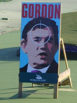 Gordon Brown golf target