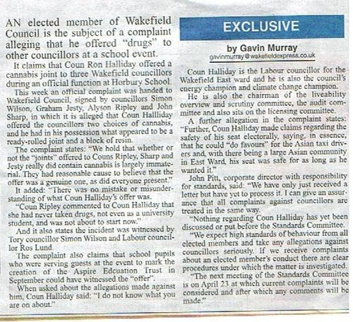 Halliday - Wakefield Express 3 Apr 09