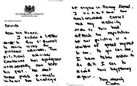 Brown letter to Dorries