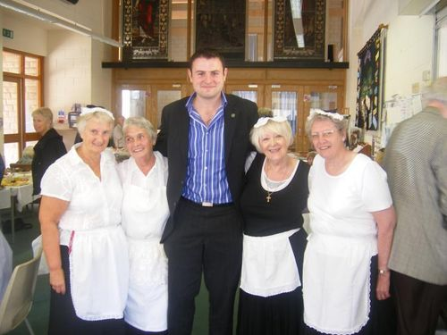 Andrew at Marie Curie Coffee morning Low Res