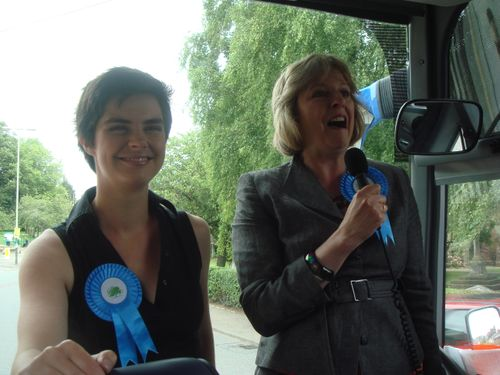 Chloe Smith and Theresa May
