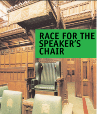 Race for Speaker's Chair graphic