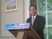 David Cameron press conf Sept 2009