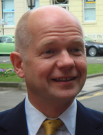 William Hague happy