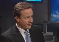 David Cameron interview side