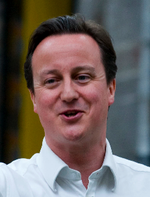David Cameron 2010 smiling open neck
