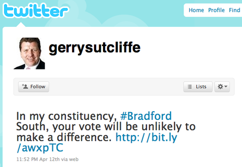 Gerry Sutclffe Twitter