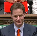 Nick Clegg front bench