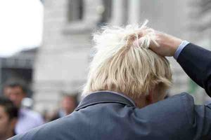 Johnson Boris Ruffling Hair