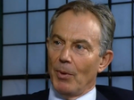 Tony Blair pensive mid-interview