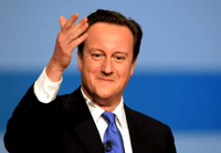 David Cameron conference smiling
