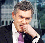 Gordon Brown biting nails