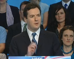 George Osborne at manifesto launch