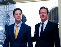 Nick Clegg David Cameron Downing Street