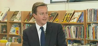David Cameron school library