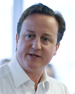 David Cameron 2010 open neck serious