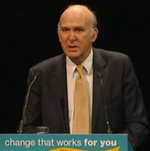 Vince Cable at Birmingham