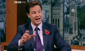 Clegg on Marr with poppy