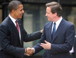Barack Obama  David Cameron handshake