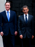 David Cameron and Nicolas Sarkozy Downing Stree