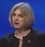 Theresa May blue