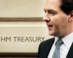 George Osborne outside Treasury