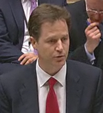 Nick Clegg Commons 2010