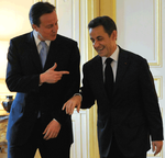David Cameron and Sarkozy