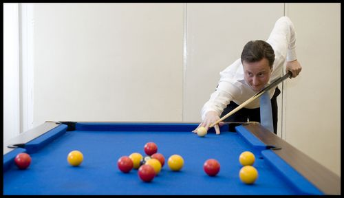 Cameron Playing pool