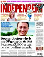 Independent front page 21st May 12
