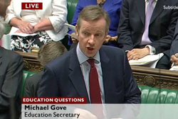 Gove in Commons