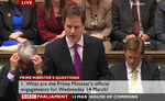Clegg at PMQs March 2012