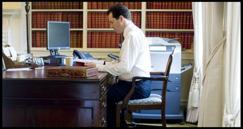 Osborne at desk