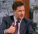 Clegg Thumbs Up