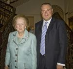Conor Burns and Thatcher