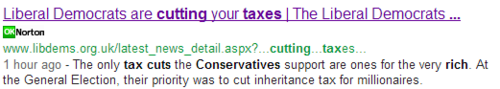LD tax cut screenshot