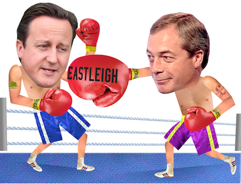 Cameron boxing Farage 2