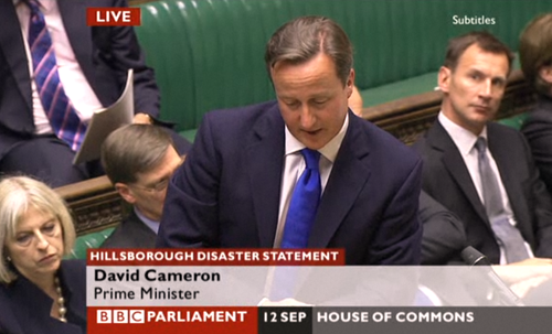 Cameron Hillsborough statement