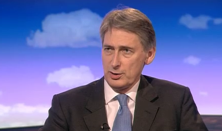 Hammond Philip arm Syrian rebels