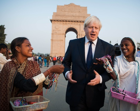 Johnson Boris in india