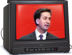 Miliband Ed on TV