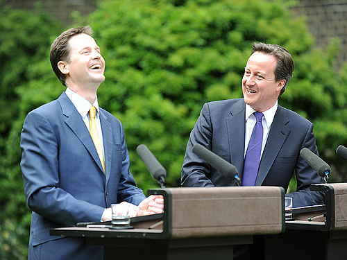 Cameron & Clegg laughing