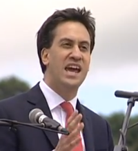 Miliband Ed At Rally