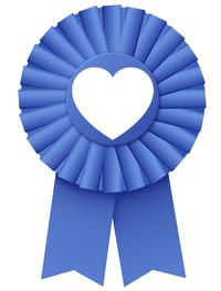 Rosette with heart2
