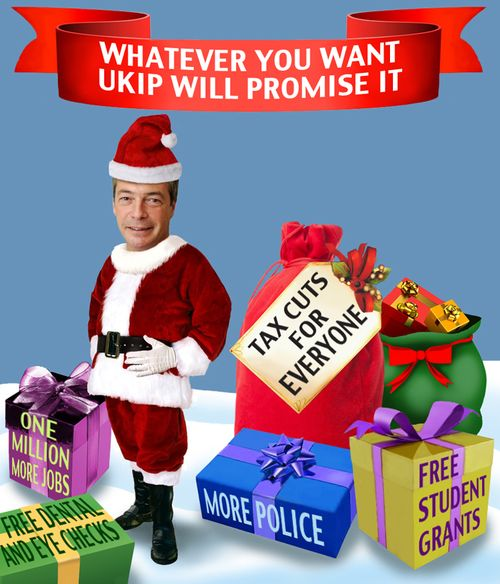 Farage as Santa1